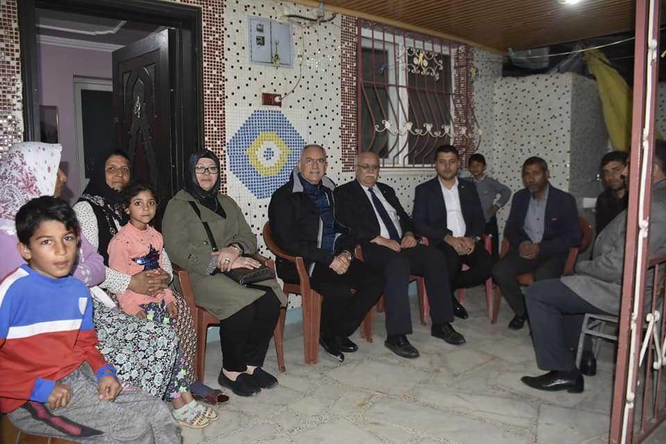 Başkan Kale Acarlar'da Ev Ziyaretleri Gerçekleştirdi