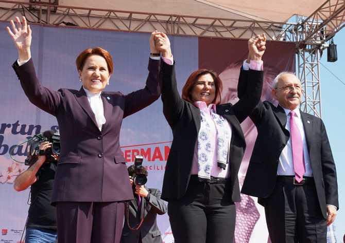 Akşener ve Kılıçdaroğlu Aydın'dan Seslendi