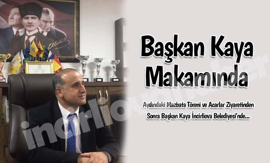Başkan Kaya, Belediye'de Tebrikleri Kabul Etti