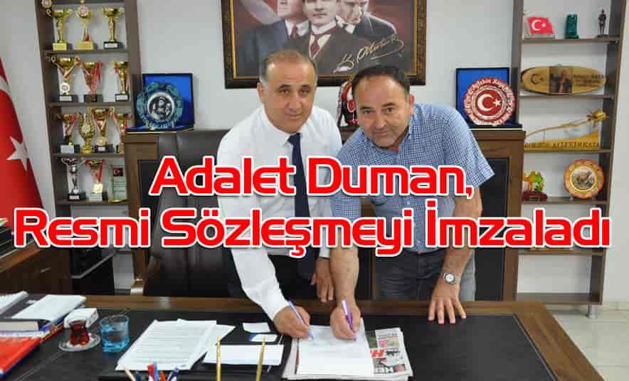 Duman, Resmi Sözleşmeyi İmzaladı