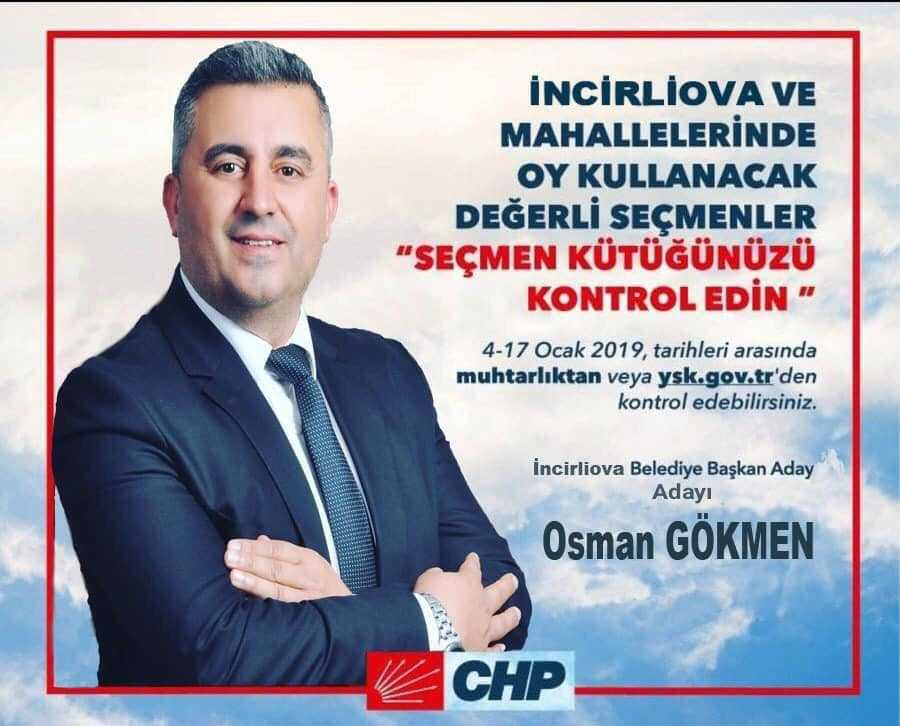 CHP'li Başkan Aday Adayı Gökmen'den Seçmenlere Hatırlatma