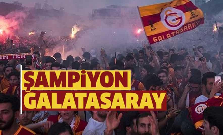 Süper Lig Şampiyonu Galatasaray Oldu!