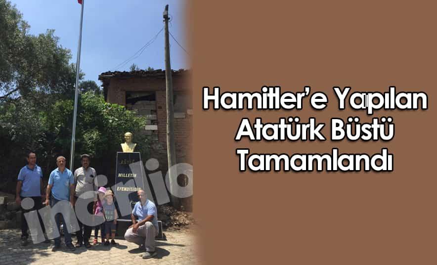 Hamitler'de Yapılan Atatürk Büstü Tamamlandı