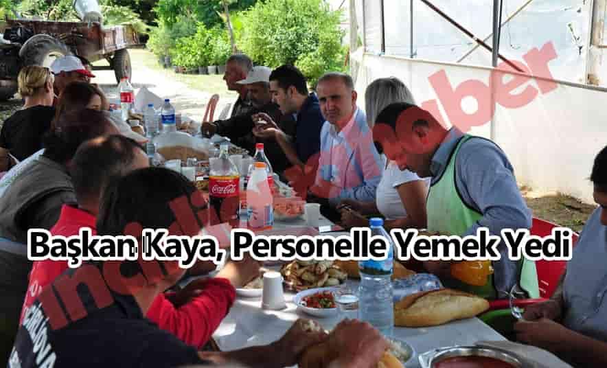 Başkan Kaya, Öğle Yemeğinde Personelle Buluştu