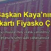 Kaya'nın Pankart Fiyaskosu!